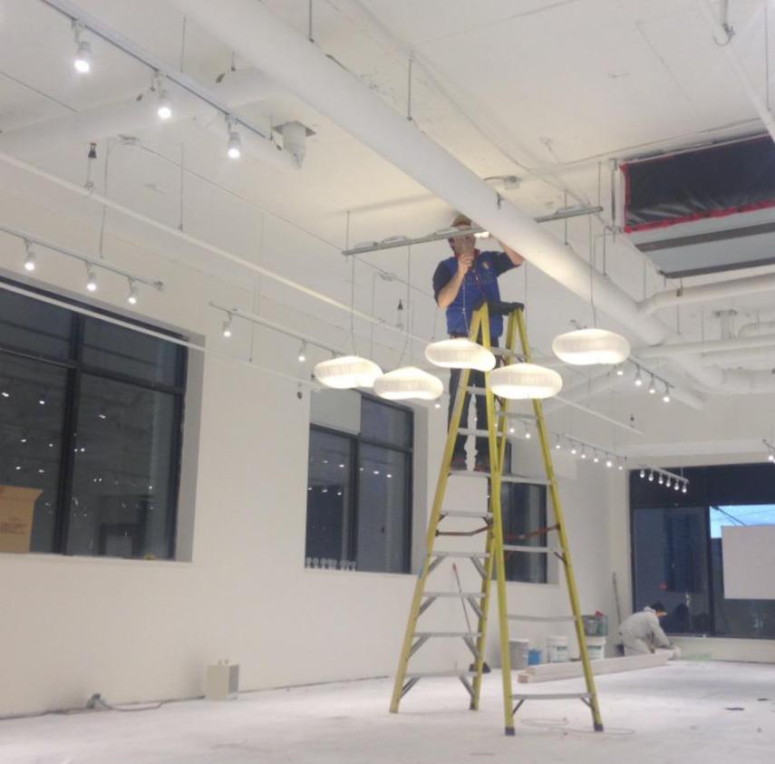 Retail Lights Installed